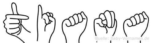 Tiana in Fingersprache für Gehörlose