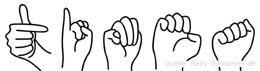 Timea im Fingeralphabet der Deutschen Gebärdensprache