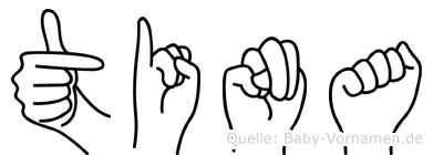 Tina in Fingersprache für Gehörlose