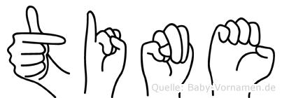 Tine in Fingersprache für Gehörlose