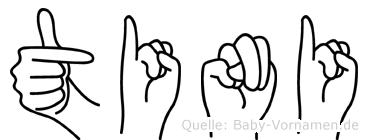 Tini in Fingersprache für Gehörlose