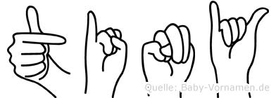 Tiny in Fingersprache für Gehörlose