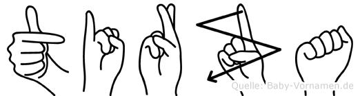 Tirza in Fingersprache für Gehörlose