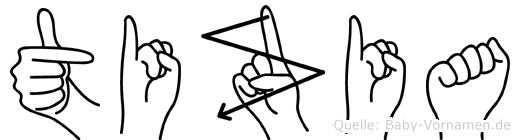 Tizia im Fingeralphabet der Deutschen Gebärdensprache