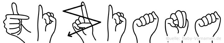 Tiziana im Fingeralphabet der Deutschen Gebärdensprache