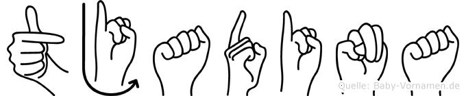 Tjadina in Fingersprache für Gehörlose