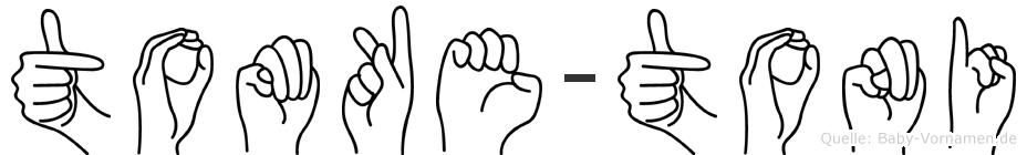 Tomke-Toni im Fingeralphabet der Deutschen Gebärdensprache