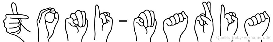 Toni-Maria im Fingeralphabet der Deutschen Gebärdensprache