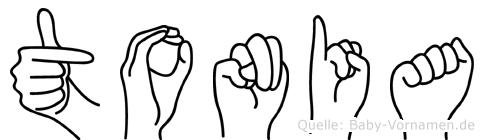 Tonia im Fingeralphabet der Deutschen Gebärdensprache