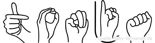 Tonja im Fingeralphabet der Deutschen Gebärdensprache