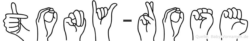Tony-Rose im Fingeralphabet der Deutschen Gebärdensprache