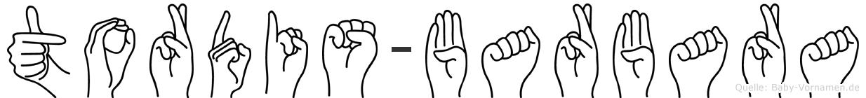 Tordis-Barbara im Fingeralphabet der Deutschen Gebärdensprache