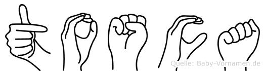 Tosca im Fingeralphabet der Deutschen Gebärdensprache