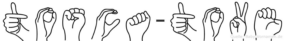 Tosca-Tove im Fingeralphabet der Deutschen Gebärdensprache