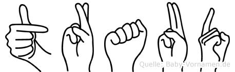 Traud im Fingeralphabet der Deutschen Gebärdensprache