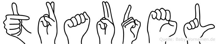 Traudel im Fingeralphabet der Deutschen Gebärdensprache