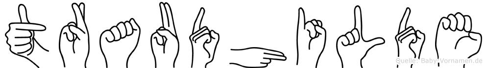Traudhilde im Fingeralphabet der Deutschen Gebärdensprache
