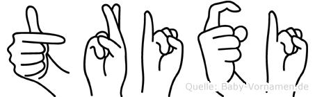 Trixi im Fingeralphabet der Deutschen Gebärdensprache
