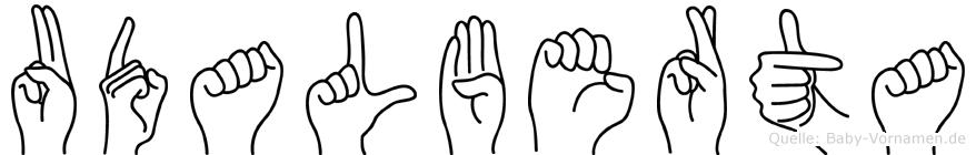 Udalberta in Fingersprache für Gehörlose