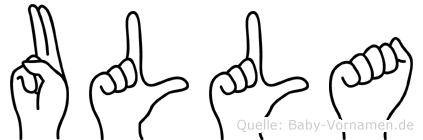 Ulla in Fingersprache für Gehörlose