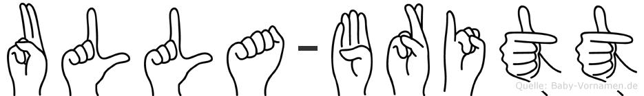 Ulla-Britt im Fingeralphabet der Deutschen Gebärdensprache