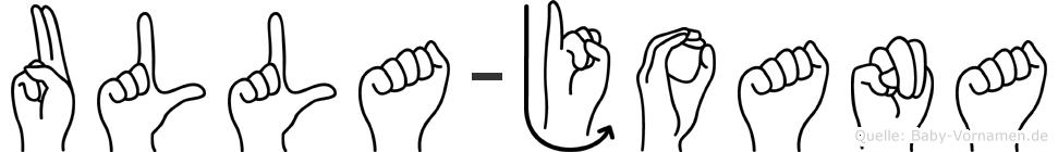 Ulla-Joana im Fingeralphabet der Deutschen Gebärdensprache