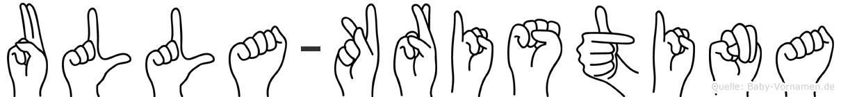 Ulla-Kristina im Fingeralphabet der Deutschen Gebärdensprache