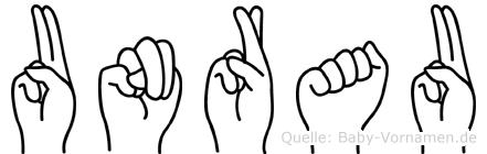 Unrau in Fingersprache für Gehörlose