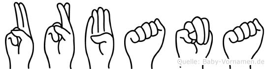 Urbana in Fingersprache für Gehörlose