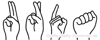 Urda in Fingersprache für Gehörlose
