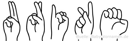 Urike in Fingersprache für Gehörlose