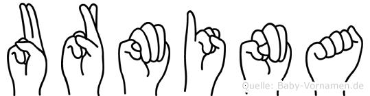 Urmina in Fingersprache für Gehörlose