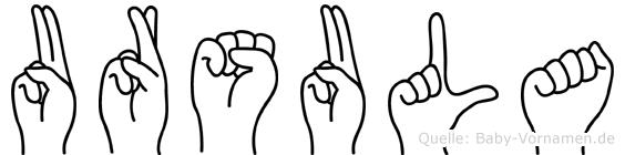 Ursula in Fingersprache für Gehörlose