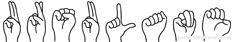 Ursulane in Fingersprache für Gehörlose