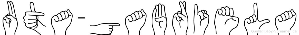 Uta-Gabriela im Fingeralphabet der Deutschen Gebärdensprache