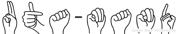 Uta-Mand im Fingeralphabet der Deutschen Gebärdensprache