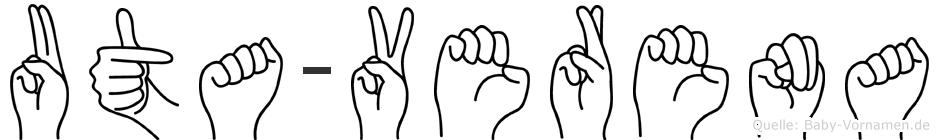 Uta-Verena im Fingeralphabet der Deutschen Gebärdensprache