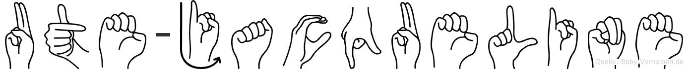 Ute-Jacqueline im Fingeralphabet der Deutschen Gebärdensprache