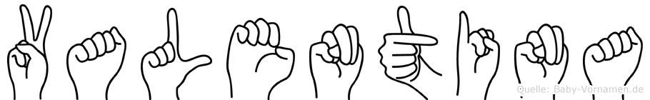 Valentina in Fingersprache für Gehörlose