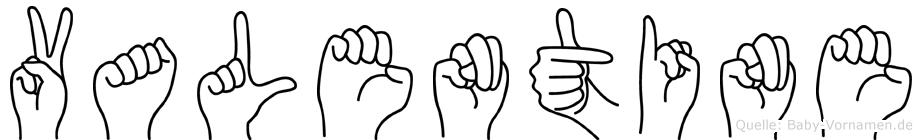 Valentine im Fingeralphabet der Deutschen Gebärdensprache