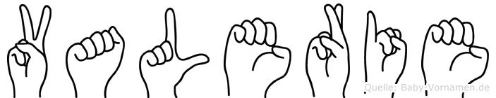 Valerie in Fingersprache für Gehörlose