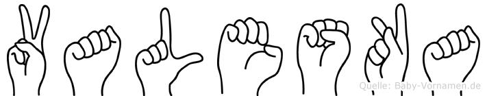 Valeska in Fingersprache für Gehörlose