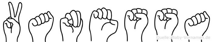 Vanessa im Fingeralphabet der Deutschen Gebärdensprache