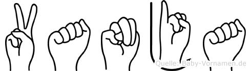 Vanja im Fingeralphabet der Deutschen Gebärdensprache