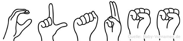 Clauss im Fingeralphabet der Deutschen Gebärdensprache