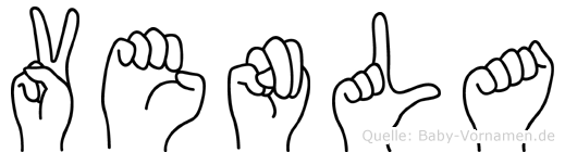Venla im Fingeralphabet der Deutschen Gebärdensprache