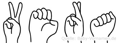 Vera in Fingersprache für Gehörlose