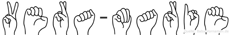 Vera-Marie im Fingeralphabet der Deutschen Gebärdensprache