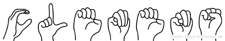 Clemens im Fingeralphabet der Deutschen Gebärdensprache