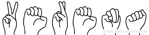 Verena im Fingeralphabet der Deutschen Gebärdensprache